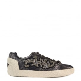 NYMPHEA Trainers Bistro Suede & Printed Satin