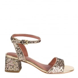 OPIUM Sandals Gold Glitter