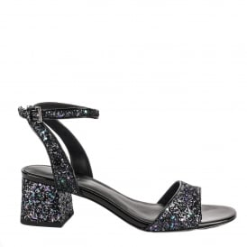 OPIUM Sandals Midnight Blue Glitter