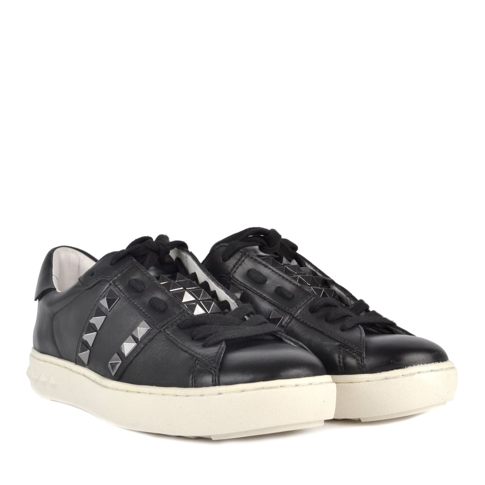Studs Black PARTY Gunmetal Trainers Leather Xa6aw0q