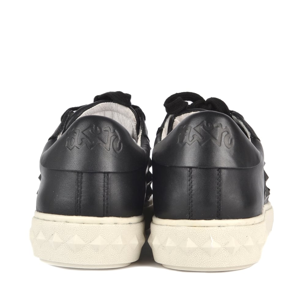 db8de903a41 Shop Black Leather Studded Party Trainers At Ash Footwear Online Today
