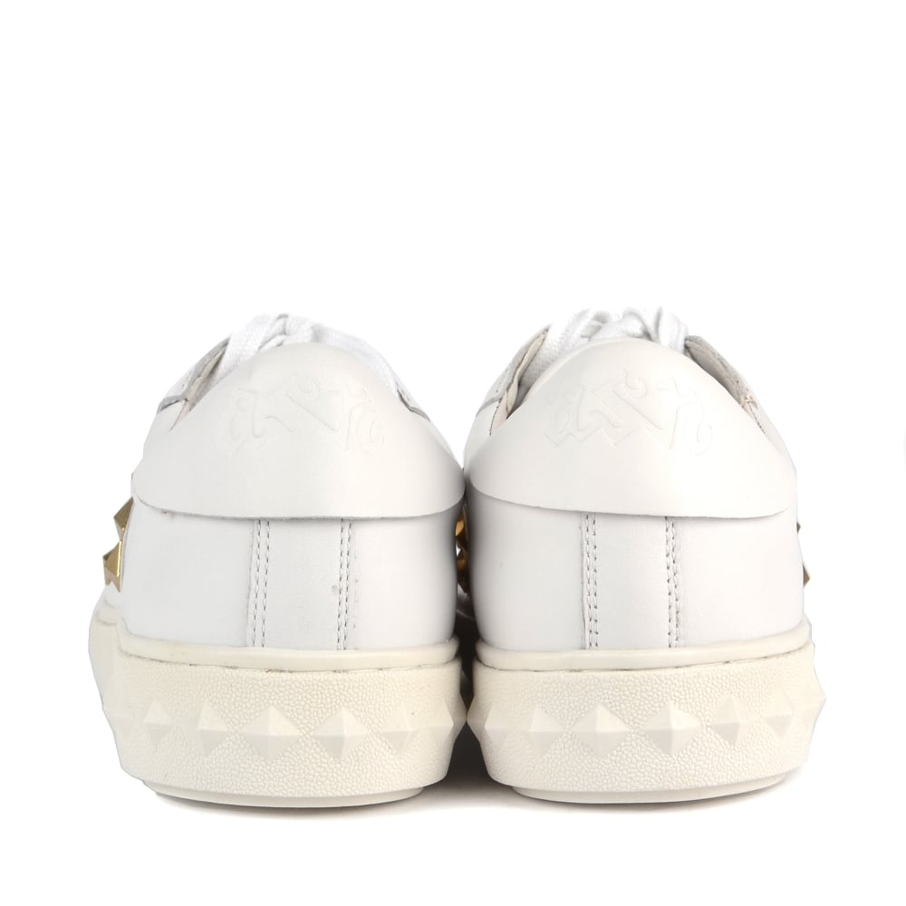 5de7ace9584 Shop White Leather Studded Party Trainers At Ash Footwear Online Today