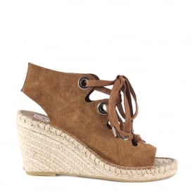 PATTY Wedge Espadrilles Tan Suede