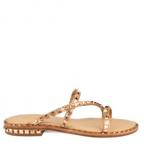 5918ed687857 Ash PEACE BIS Sandals Rose Gold Leather   Studs