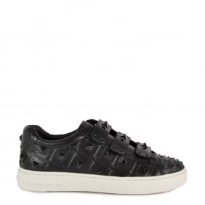 Ash PEACE Studded Trainers Black Leather