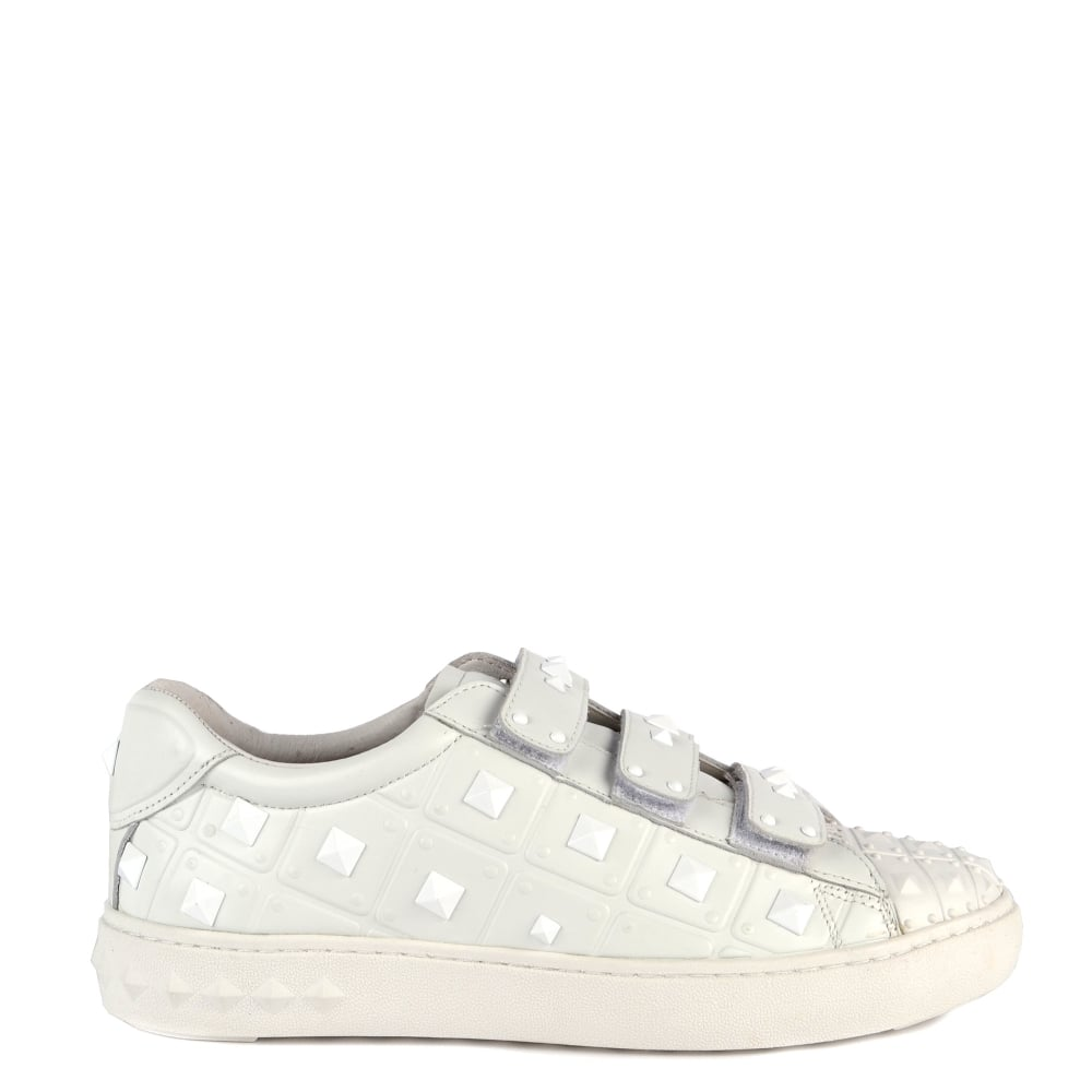 cd489fe8e36 Buy Ash Peace Trainers in White Studded Leather Online Now
