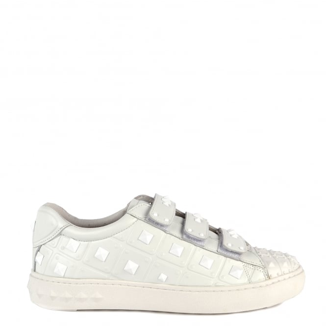 Ash PEACE Studded Trainers White Leather
