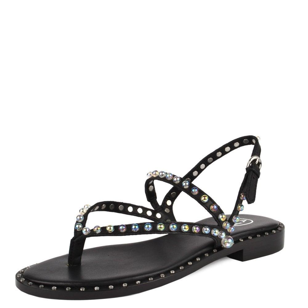 Black Leather Sandals   ASH