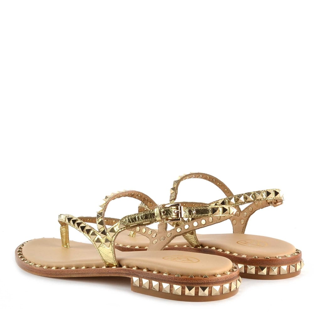 3b09429dbcdb Shop Studded Sandals at Ash Footwear - Gold Leather Peps Sandals