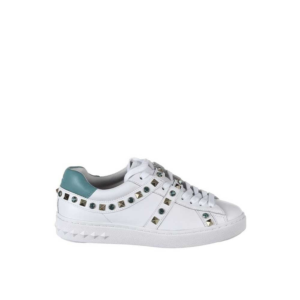 Ash Play Studded White Leather Sneakers
