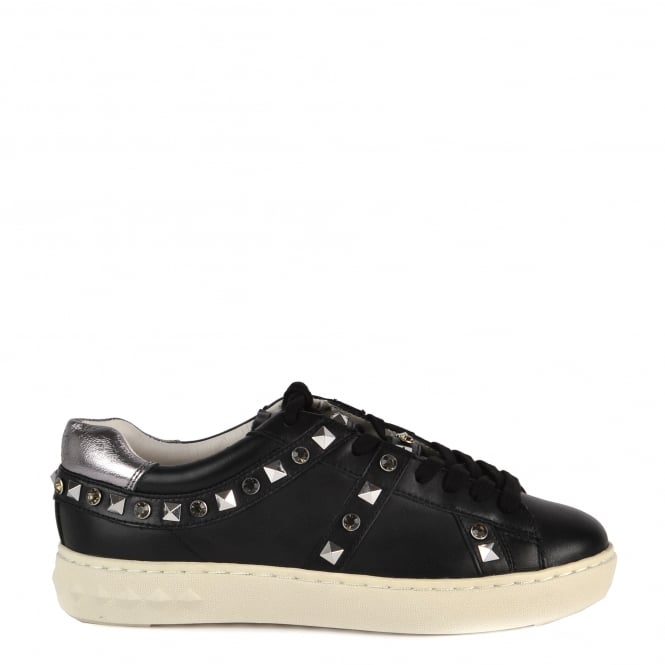 Ash PLAY Trainers Black & Chrome Leather