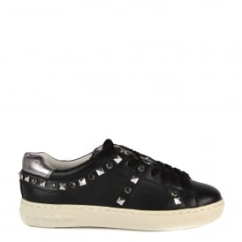 PLAY Trainers Black & Chrome Leather