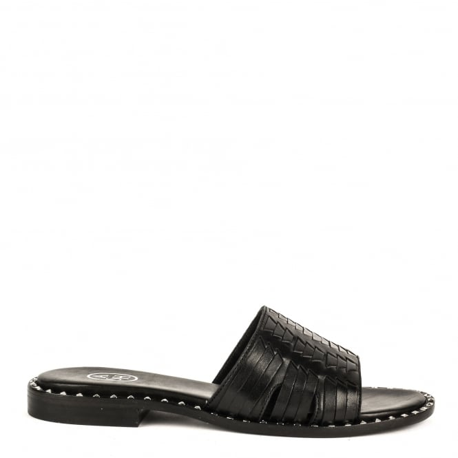 Ash PLAYA Sandals Black Leather