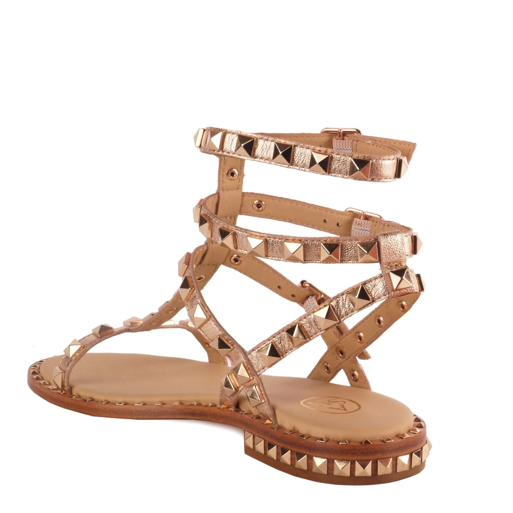 4efdc953ab9e Shop Studded Sandals at Ash Footwear - Gold Leather Poison Sandals