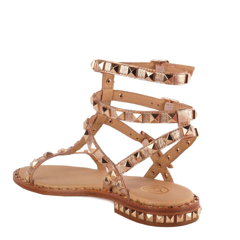 Sandals Leather Shop Ash Studded Footwear Gold Poison At Tl1c3uFK5J