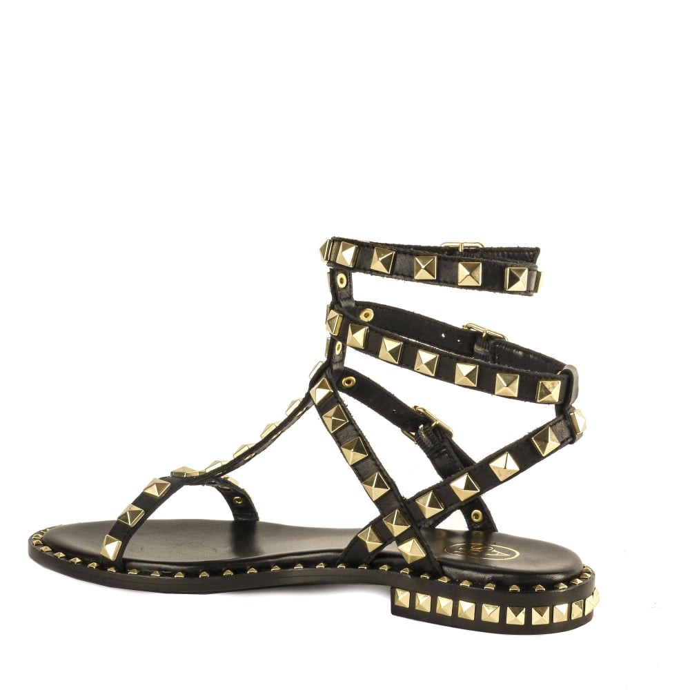 3c7d63635ac659 Shop Studded Sandals at Ash Footwear - Black Leather Poison Sandals