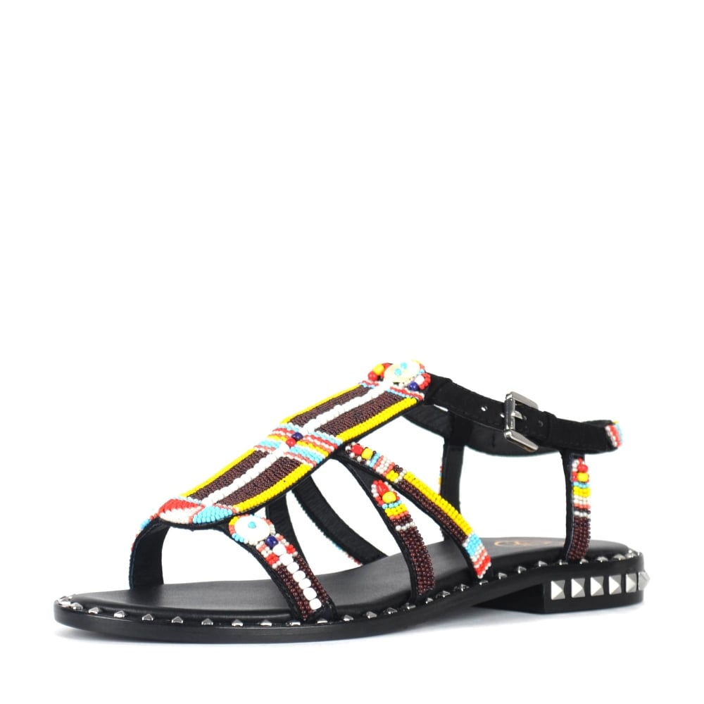 ac873d2eebf The Ash Polynesia Beaded Sandals In Black Suede Have Landed Online