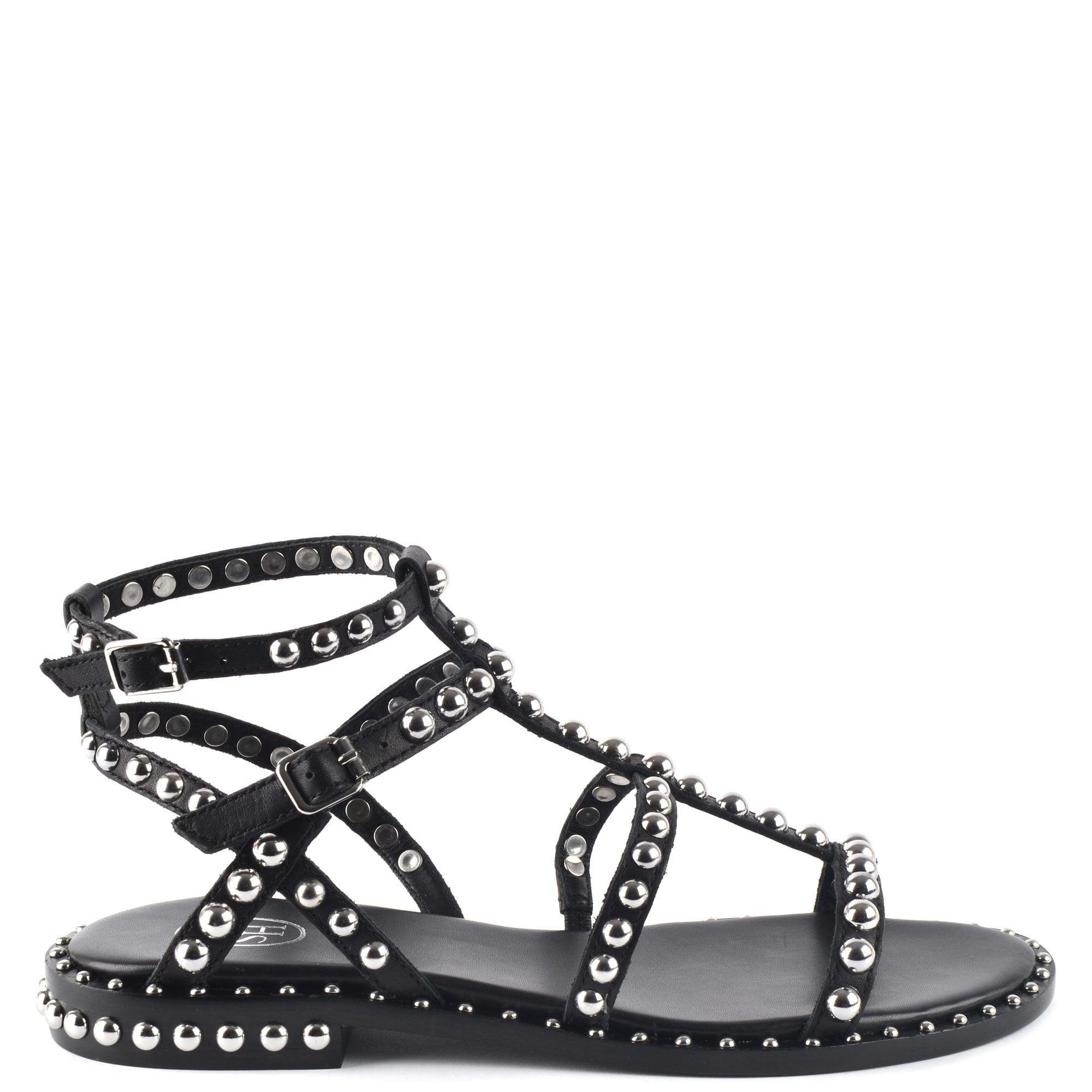 Black Leather \u0026 Studded Sandals   ASH