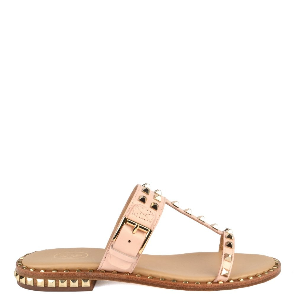 42e848981d64 Ash PRINCE Sandals Pink Leather   Gold Studs