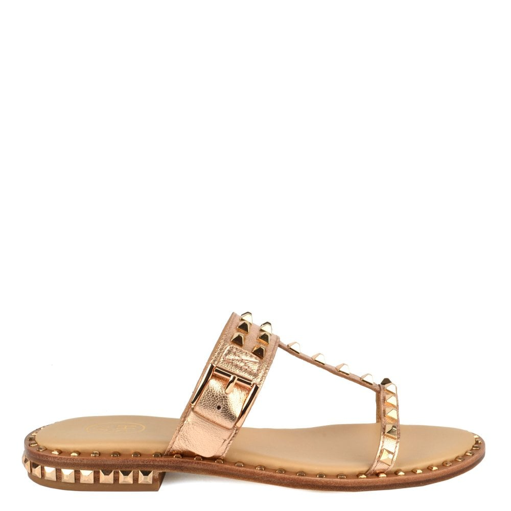 695b5bb6c39a Ash PRINCE Sandals Rose Gold Leather   Studs