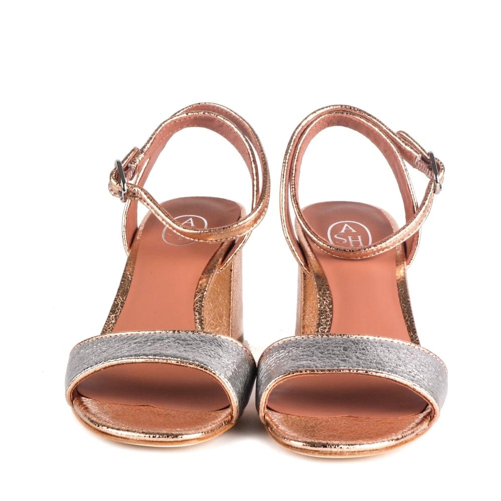 cf54eafbf7c Shop Ash Footwear Quartz Sandals In Rose Gold Leather Online Today