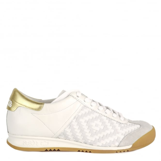 Ash SCORPIO Trainers White Woven Leather & Suede