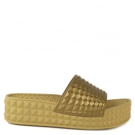 SCREAM Studded Chunky Soled Sandals Antic Gold