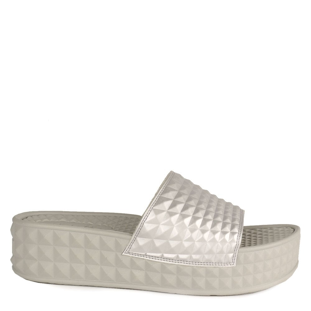 315e5d898c9e Ash SCREAM Studded Chunky Soled Sandals Antic Silver