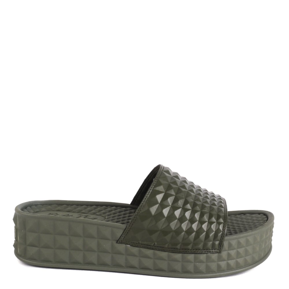 SCREAM Studded Chunky Soled Sandals Army