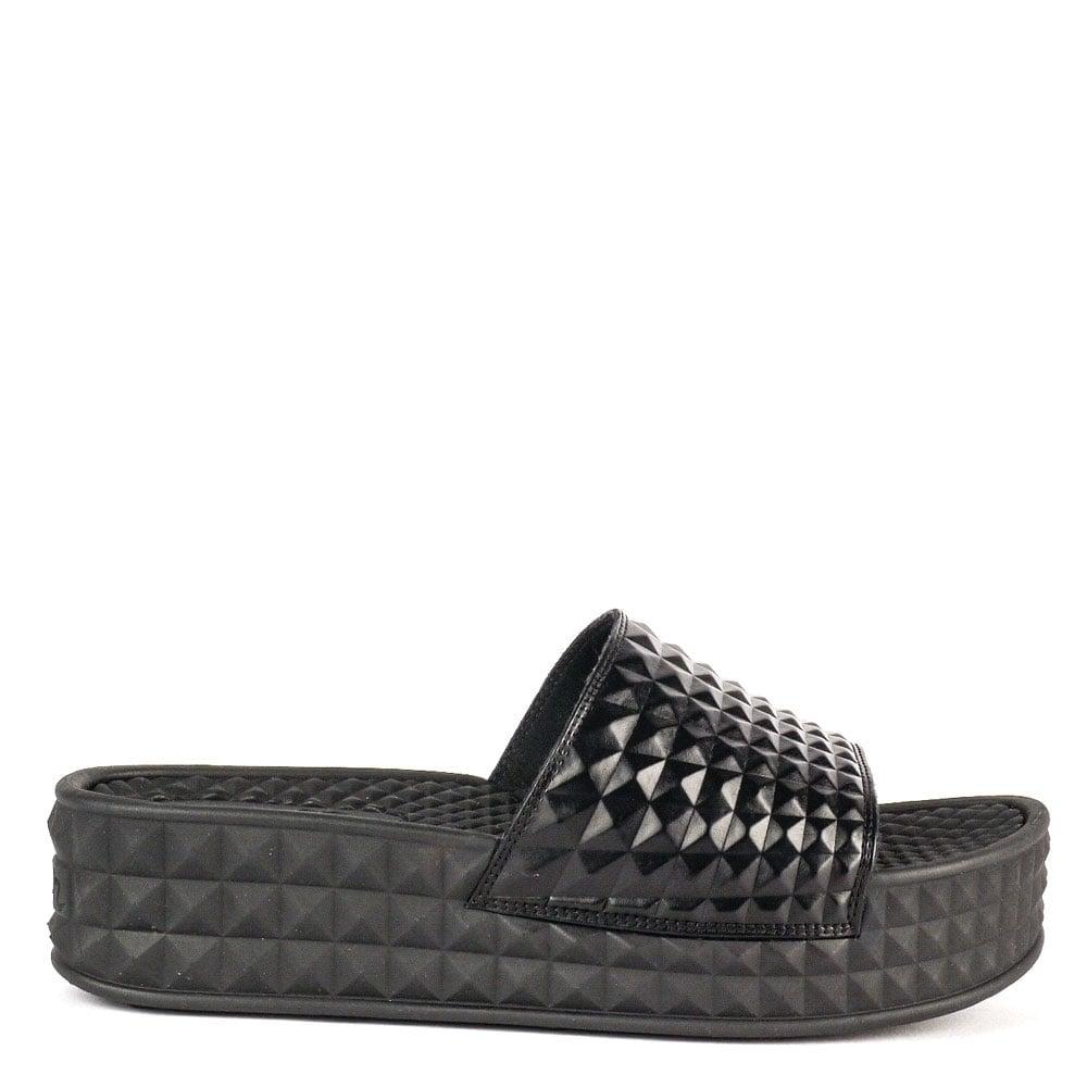 Black sandals uk - Scream Studded Chunky Soled Sandals Black