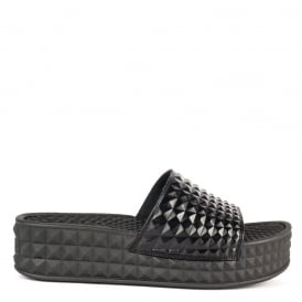 SCREAM Studded Chunky Soled Sandals Black