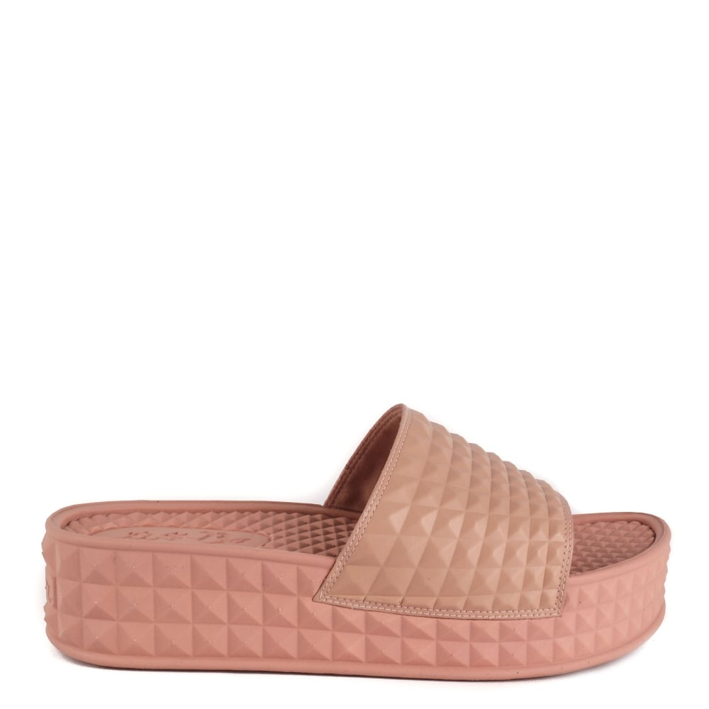 SCREAM Studded Chunky Soled Sandals Nude