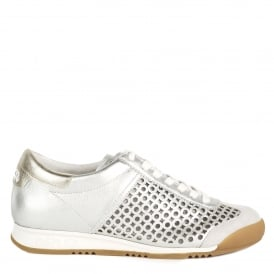 SPIN Trainers Silver Leather