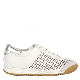 SPIN Trainers White Leather