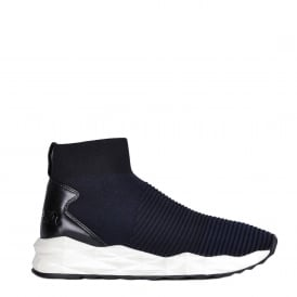 SPOT Trainers Black Midnight Ribbed Knit & Neoprene