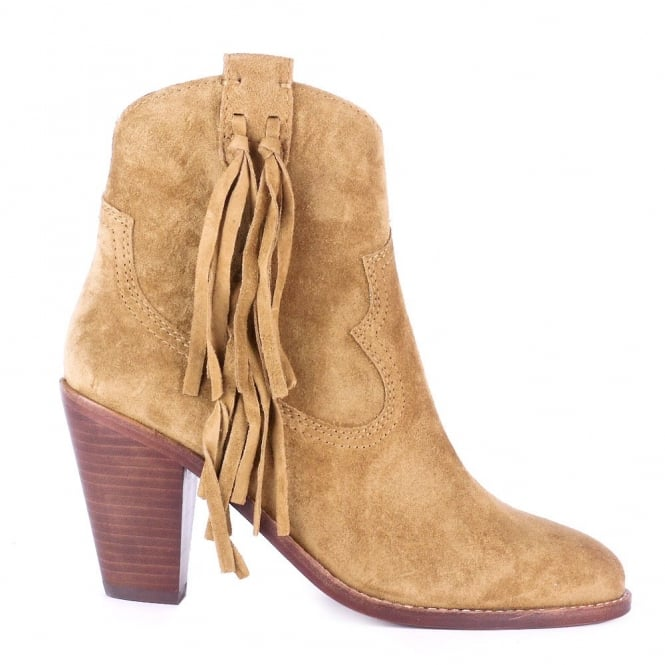Ash STELLA Tasseled Boots Camel Suede