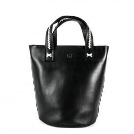 STINGER Small Bucket Bag Black Leather