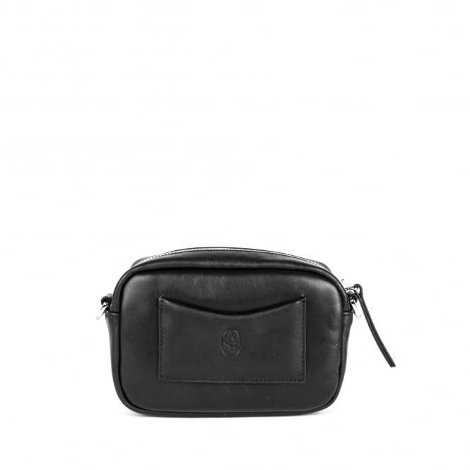 Ash STINGER Small Cross Body Bag Black Leather