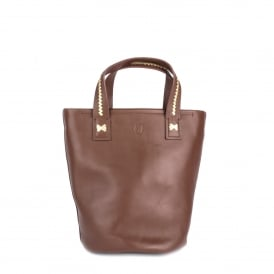 STINGER Small Tote Bag Cacao Leather