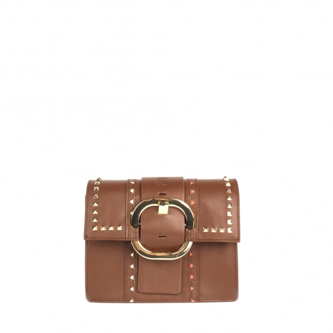 Ash STINGER Studded Mini Bag Cacao Leather