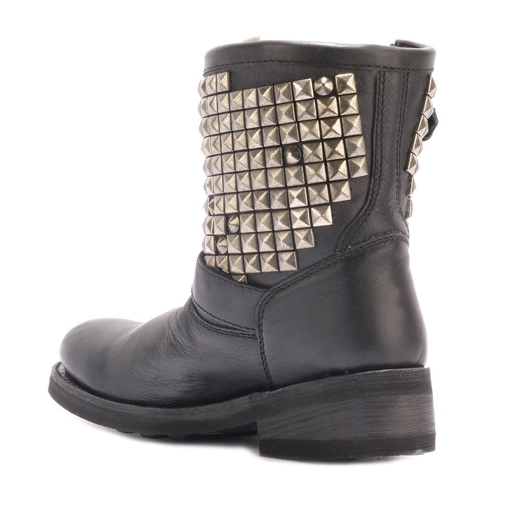 be115cb77ecb Buy Titan Biker Boots from Ash Footwear in Black Leather Online Today.
