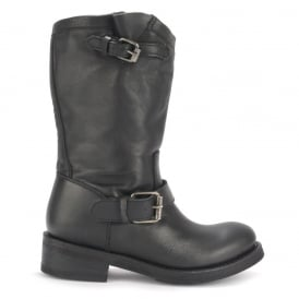 TOXIC Biker Boots Black Leather