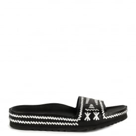 ULLA Sandals Black & Silver Leather