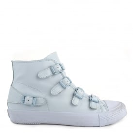VENUS Buckle Trainers Pastel Blue Leather