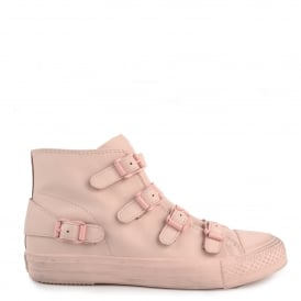 VENUS Buckle Trainers Pastel Pink Leather