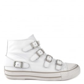 VENUS Buckle Trainers White Leather