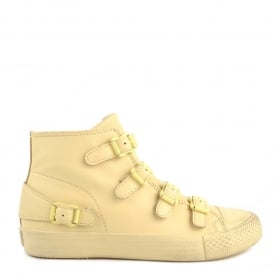 VENUS Buckle Trainers Yellow Chick Leather