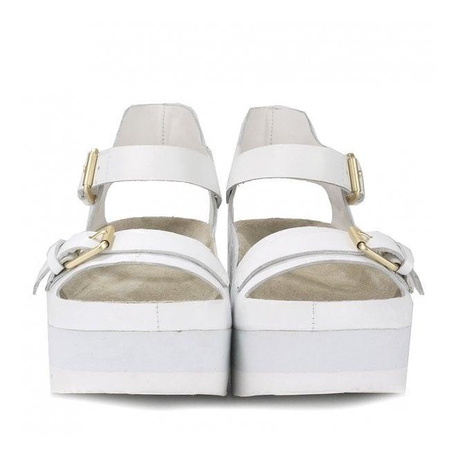 Ash VERA Flatform Sandals White Gloss