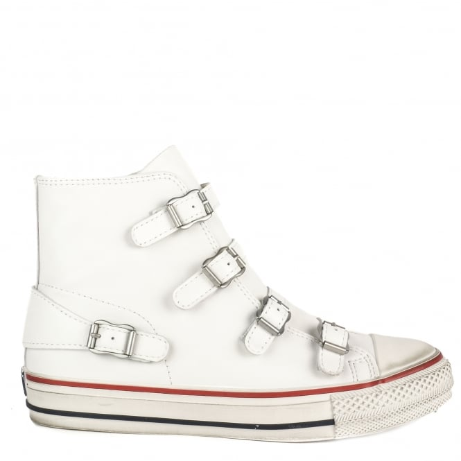 Ash VIRGIN Buckle Trainers White Leather
