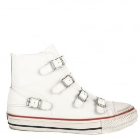 VIRGIN Buckle Trainers White Leather